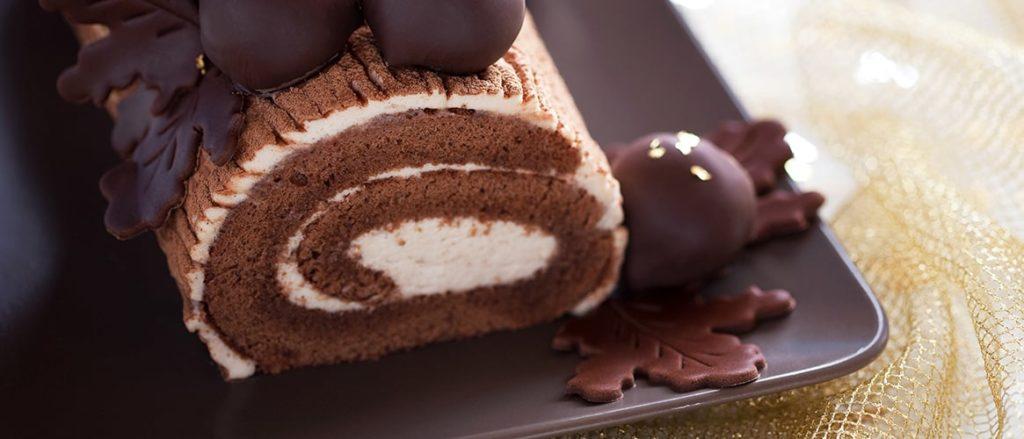 Rocambole de Chocolate com Nozes